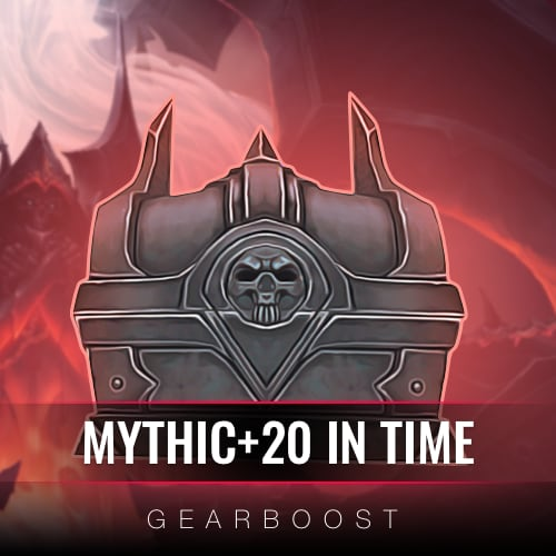 Shadowlands Mythic+20 In Time Boost